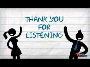 Bedankt voor het luisteren